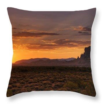 A Bit Of Desert Beauty  Throw Pillow by Saija  Lehtonen