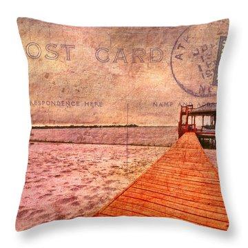 A Bit Of Nostalgia Throw Pillow by Debra and Dave Vanderlaan