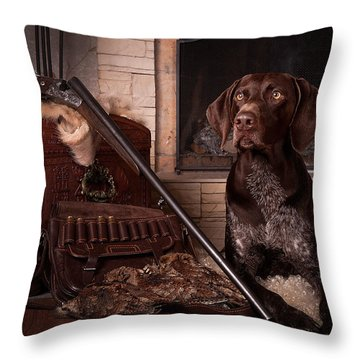 A Born Hunter... Throw Pillow