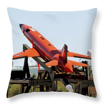 A Bqm-167a Subscale Aerial Target Throw Pillow by Stocktrek Images