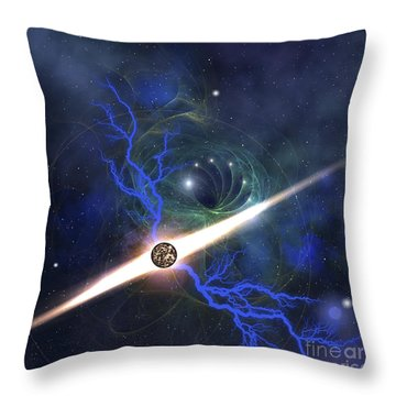 A Brilliant Star In The Universe Throw Pillow