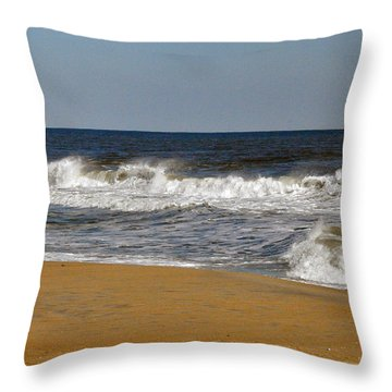 A Brisk Day Throw Pillow by Sarah McKoy