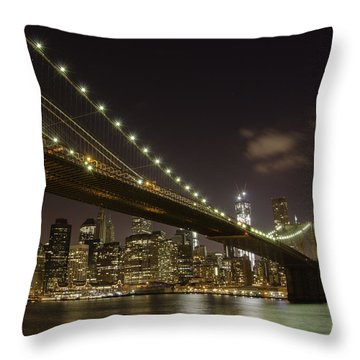 A Brooklyn View Throw Pillow by Alex Ching