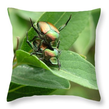 A Bugs Day Throw Pillow