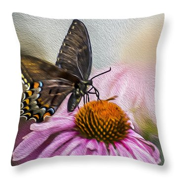 A Butterfly's Magical Moment Throw Pillow