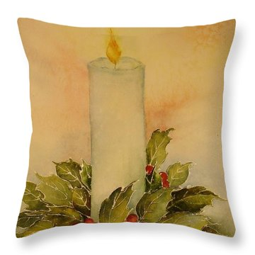 A Candle For Peace Throw Pillow