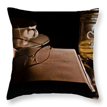 A Candlelight Scene Throw Pillow