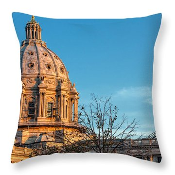 Throw Pillow featuring the photograph A Capitol Evening by Tom Gort