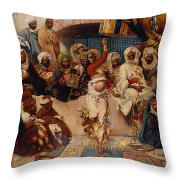 A Captive Audience Throw Pillow by Charles Auguste Loye