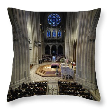 A Casket Lies In Place Throw Pillow by Stocktrek Images