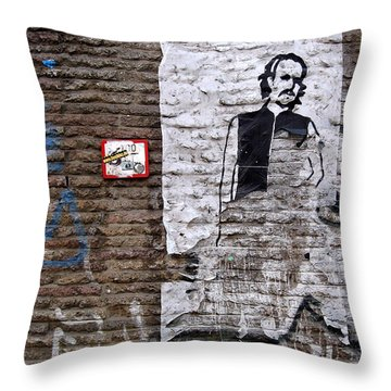 A Character On The Wall Throw Pillow by RicardMN Photography