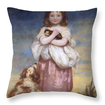 A Child Throw Pillow by James Northcore