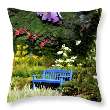 A Child's Garden Throw Pillow