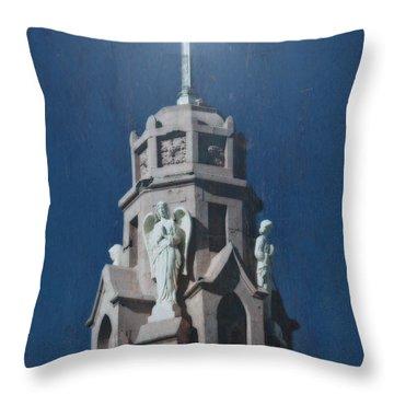 A Church Tower Throw Pillow