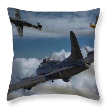 A Close Encounter Throw Pillow