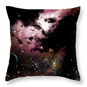 A Cluster Of Bright Young Stars Tear Throw Pillow by Brian Christensen