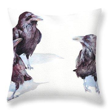 A Conspiracy Of Ravens Throw Pillow