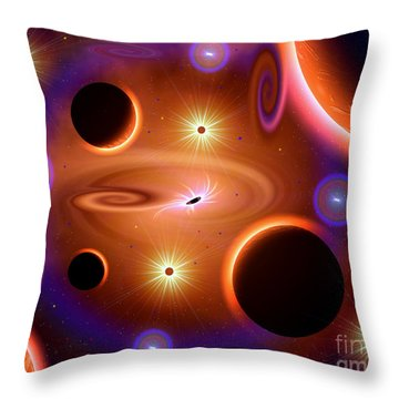 A Cosmic Place Where Time And Space Throw Pillow by Mark Stevenson