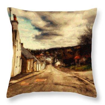 A Cotswold Village Throw Pillow by Lianne Schneider