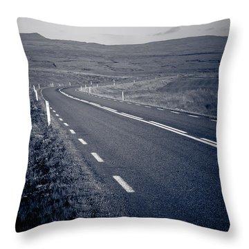A Curve Ahead Throw Pillow