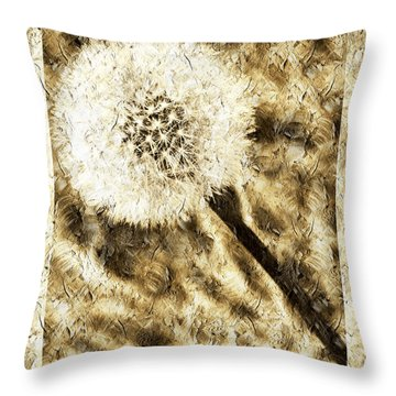 A Dandy Glow Throw Pillow by Andee Design