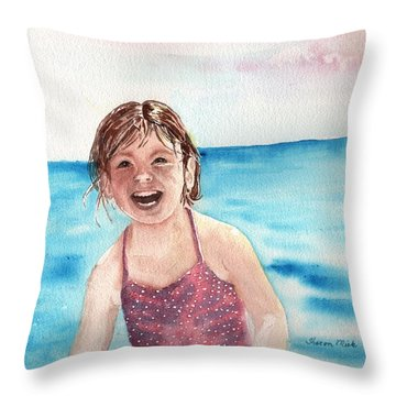 A Day At The Beach Makes Everyone Smile Throw Pillow