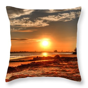 A Day Ends Over Charleston Throw Pillow