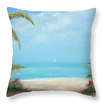 A Day In The Tropics Throw Pillow