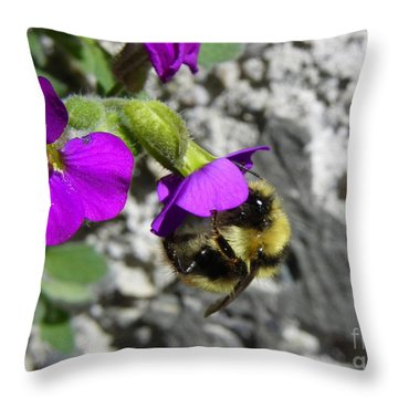 A Day's Work Throw Pillow