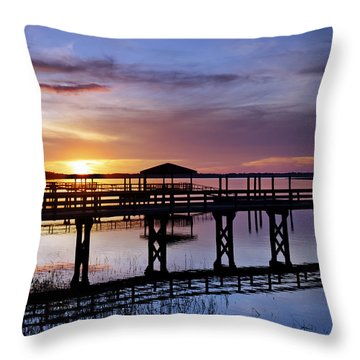 A December Sky Throw Pillow by Phill Doherty
