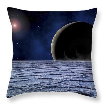 A Distant Star Illuminates An Throw Pillow