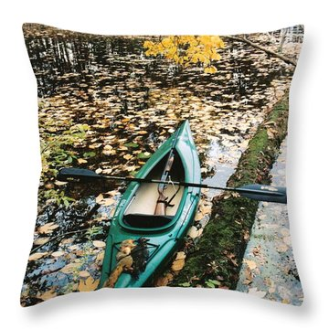 A Fall Harvest Throw Pillow by Gerald Strine
