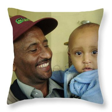 Throw Pillow featuring the photograph A Father's Pride And Joy by Laurel Talabere