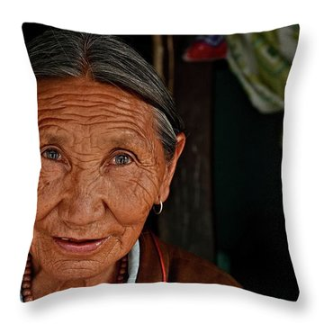 A Few Lifelines Throw Pillow by Valerie Rosen