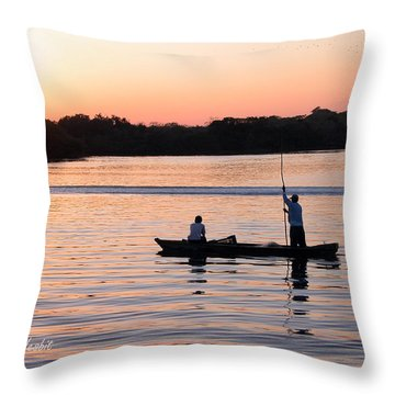 A Fisherman's Story Throw Pillow
