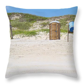 A Full Service Beach Throw Pillow by Roena King