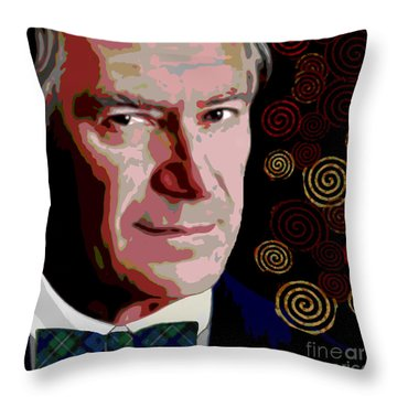 Throw Pillow featuring the painting A Gentleman by Jann Paxton