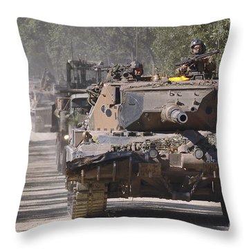 A German Designed Leopard As1 Gun Tank Throw Pillow by Stocktrek Images