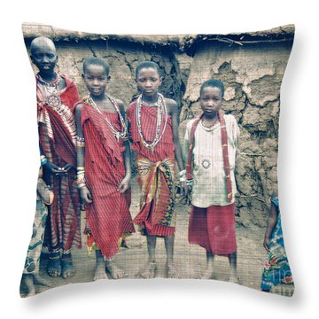 A Gift Throw Pillow by Gwyn Newcombe