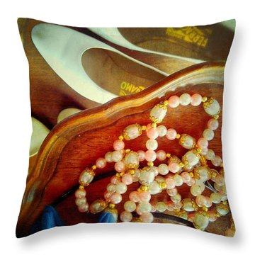 A Girl's Treasures Throw Pillow by Olivier Calas