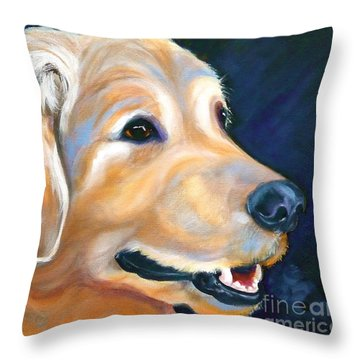A Golden Adventure Throw Pillow