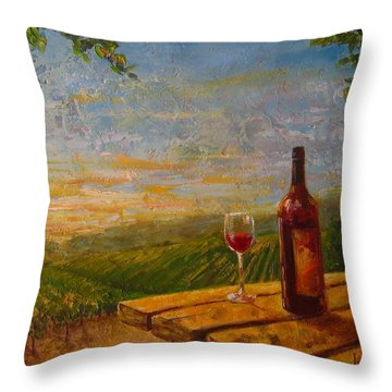 A Good Year Throw Pillow by Jane Mick
