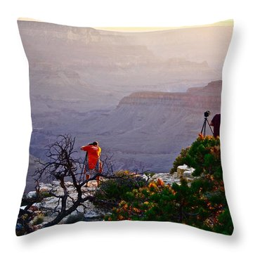 A Grand Meeting Place Throw Pillow