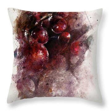 A Grape Mystery Throw Pillow by Rachel Christine Nowicki