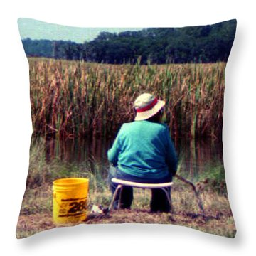 Throw Pillow featuring the photograph A Great Day Fishing by Patricia Greer