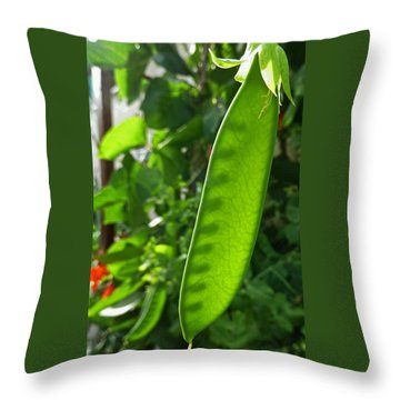 Throw Pillow featuring the photograph A Green Womb by Steve Taylor