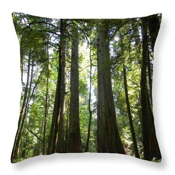 A Green World Throw Pillow