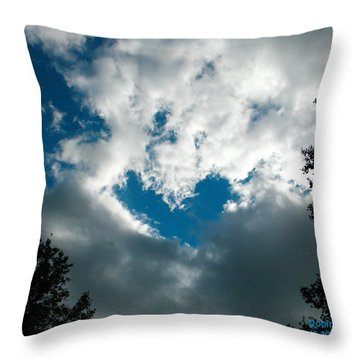 A Heart In The Sky Throw Pillow by Robin Coaker