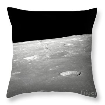 A High Forward Oblique View Of Rima Throw Pillow by Stocktrek Images