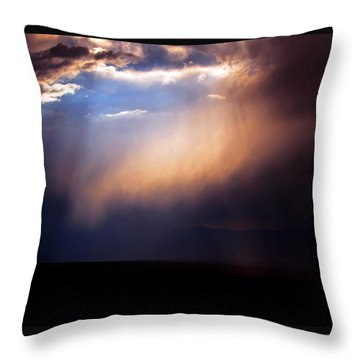 A Higher Violet Throw Pillow by Susanne Still